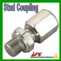 14S x 1/2 BSP Male Stud Coupling (14mm Tube Fitting x BSPP Thread)